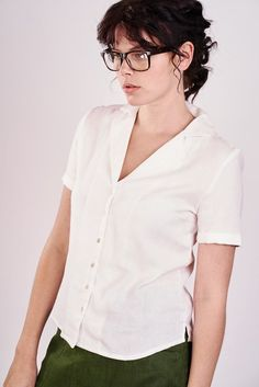 Ella White Boxy Shirt