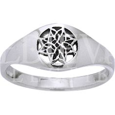 Celtic Eternal Knot Flower Ring - PS-WZRI886 by Medieval Collectibles