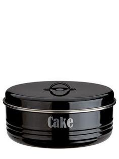 Typhoon® Vintage Kitchen Black Cake Tin in cake tins at Lakeland Cake Storage, Vintage Kitchen Accessories, Cake Carrier, Home Fix, Black Food, Antique Glassware, Black Kitchens, Kitchen Black, Kitchen Equipment