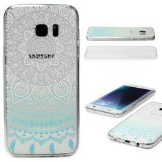 Urcover® Samsung Galaxy S7 Handy Case in der TPU Ultra Slim 360 Grad Edition Rundum Voll Komplett Schutz Hülle Mandala transparent BLAU 8,90€