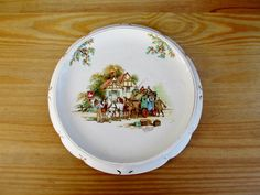 Art Deco Bread Cake Plate Platter Dish by QueensParkVintage