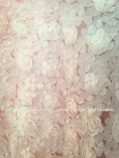 Pale Pink Lace Fabric Bridal Lace Fabric Wedding Gown by lacetime