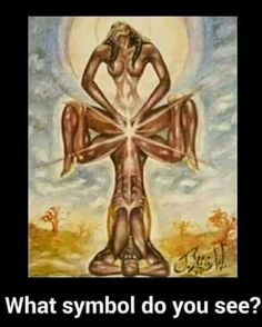 The ankh! Pay attention to the entire picture, not just the union of people.