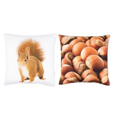 PRODUCTS :: LIVING AND DESIGN :: Textile :: Pillows :: Squirrel and Nuts, 2pcs set Pillowcases