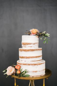 Naked cake by Eileen Carter Creations with Waiting on Martha for The Celebration Society. Rustic White Photography