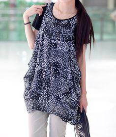 Soft comfortable T shirt Bottoming shirt dress by MaLieb on Etsy, $56.00