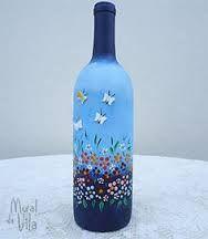 Resultado de imagem para garrafas pintadas artesanato
