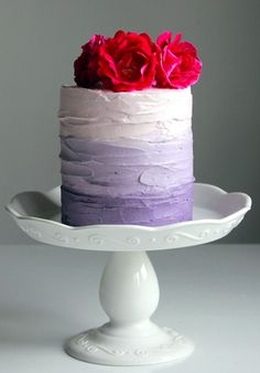 Ombre Cake. Make it Gluten Free and visit www.absolutelygf.com for more! #deserts #recipes #glutenfree