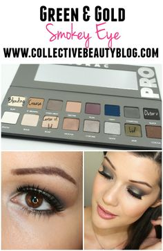 Green and Gold Smokey eye using the LORAC Pro 2 Palette!