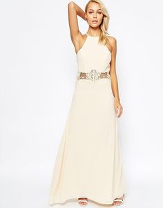 Jarlo+Aden+Maxi+Dress+with+Lace+Insert+Waist