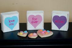 Cute 2x 4 craft valentine's day