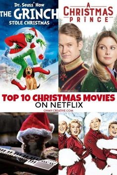Top 10 Christmas Movies On Netflix: Best Christmas Movies to Watch – Oh My Creative Memories will be made spending time with family watching these Top 10 Christmas Movies on Netflix! Great holiday movies for the whole family! Chrismas Movies, Top 10 Christmas Movies, Christmas Tops, Best Holiday Movies, Christmas Ideas, Christmas Activities, Christmas Stuff, Xmas, Grinch