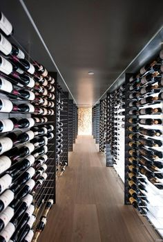 Ultra modern walk-in wine cellar. Grab a bottle and take the night off!