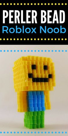 Perler Bead patterns can be so much fun to make. Check out this Roblox noob Perler Bead pattern. It's perfect for any Roblox fan. Crochet Kids Scarf, Crochet For Kids, Crochet Hats, Pearler Bead Patterns, Pearler Beads, Fuse Beads, Baguio, Minecraft Beads, 3d Perler Bead