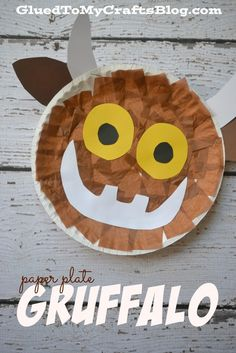 Paper Plate Gruffalo {Kid Craft} - Fall Crafts For Kids Gruffalo Activities, Gruffalo Party, Gruffalo Eyfs, The Gruffalo, Vocabulary Activities, Craft Activities, Toddler Crafts, Preschool Crafts, Kids Crafts