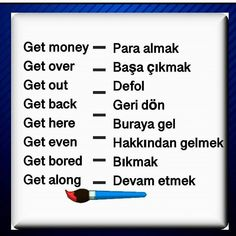 English Vocabulary Words, English Phrases, English Words, English Lessons, English Language, Learn Turkish Language, Learn A New Language, English Time, Learn English