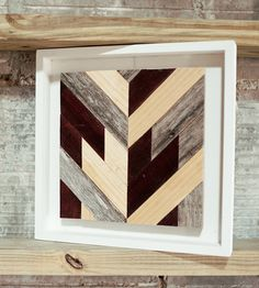 Chevron Wood Wall Art - Square | Art Pieces | Goodhand Woodworks | Scoutmob Shoppe | Product Detail