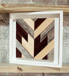 Chevron Wood Wall Art - Square