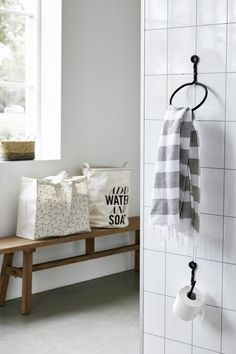 Ringen voor handdoek en wc papier