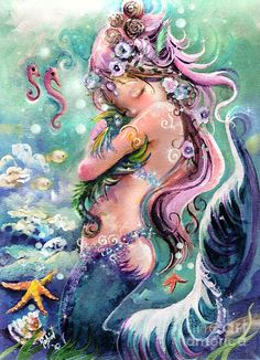 Mermaid & Seahorses