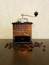 Armenian Antique Vintage Coffee Grinder Mill - Handmade from Copper and Wood