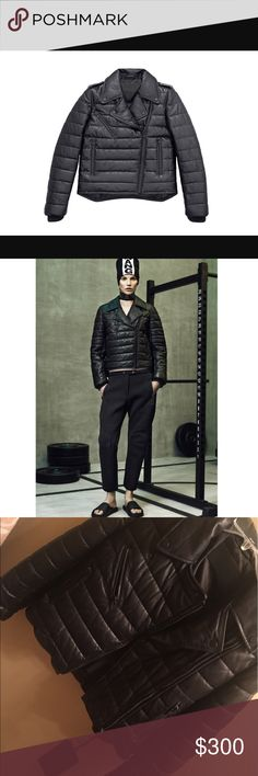 alexander wang by h&m alexander wang collaborated with H&M and to make this awesome collection this is the leather jacket new with tags Alexander Wang Jackets & Coats