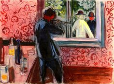 Uninvited Guests  Edvard Munch - 1932-1935