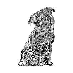 Printable pug coloring page. Free PDF download at http ...