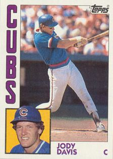 1984 Cubs | Jody Davis of the Chicago Cubs, picture on Topps baseball card 1984