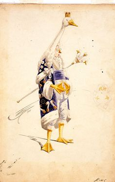 Attilio COMELLI - Costume design for the King from Mother Goose, 1915