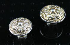 $2.80 on Etsy - Antique Silver Flower Dresser Knobs Drawer Pulls Knobs Handles / Cabinet Door Knobs Pull Handle / Vintage Furniture Knob Hardware J141