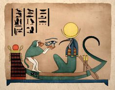 Thoth, Egyptian God of Knowledge, & The Moon represented by The Left Eye of Horus & Held by Thoth as Baboon #Sorcery #Alchemy #Hermeticism