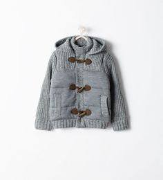 HOODED CARDIGAN WITH TOGGLES
