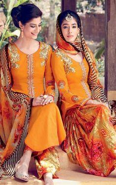 Exotic Orange Cotton Salwar Kameez