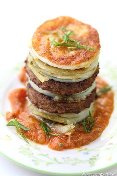 Roasted Ratatouille Lasagna Napoleons | daycare meal ideas | Pinterest ...