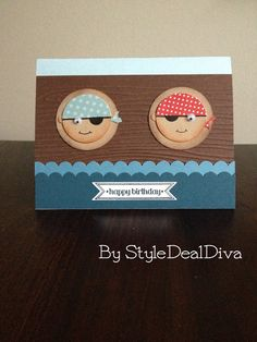 Sailor Boys Happy Birthday Card by StyleDealDiva using Stampin' Up! Itty Bitty Banners on Etsy, $4.00