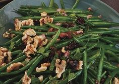 Green Beans with Toasted Walnuts and Dried Cherries (substitute dried cranberries for the cherries)