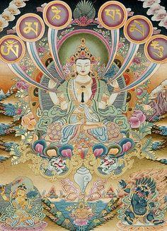Om (ohm) Ma (mah) Ni (nee) Pad (pahd) Me (may) Hum  - Avalokiteshvara Patron Deity