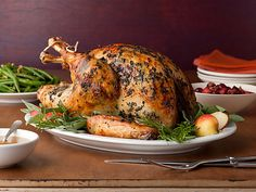 Roasted Turkey with Herb Butter & Roasted Shallots Recipe