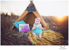 First birthday photoshoot ideas. First birthday. Photoshoot. Children's photographer. Dream it. Wish it. Do it. 1st birthday photos. 1st birthday session. Children's session. Sunset. Smash cake. Lace romper. Etsy