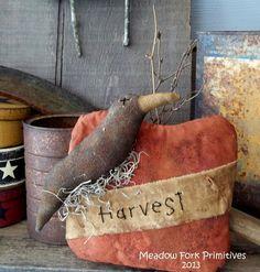 Made to OrderPrimitive Folk Art Harvest Pumpkin by MeadowForkPrims
