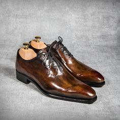 Wooden Patina on a one-cut Oxford Shoe, Blake stiched...