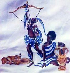 African American Art, African Art, Yemaya Orisha, Orishas Yoruba, Yoruba People, Yoruba Religion, Esoteric Art, Angel Warrior, Black Love Art
