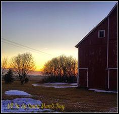 Our North #Iowa sunrise at the farm.