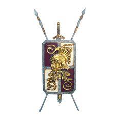 Roman Legionnaire's Crest Coat-of-Arms Shield Wall Sculpture