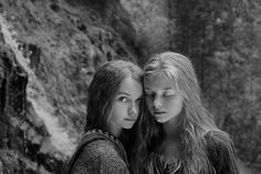 Caucasian teenage girls in forest by gabledenims Sister Friends, Girlfriends, Black And White, Denim, Couple Photos, Photography, Girls, Mother Daughters, Image