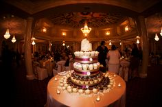Everything Weddings And More: Purple Black and Gold Florida Wedding by Limelight Photography. Wedding Cupcake tower by The Cake Zone, www.thecakezone.com