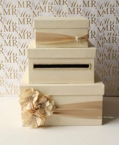 Wedding Card Box Money Gift Holder Choose Your Flower Colors