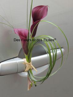 DECORATION PORTIERE CALLAS NOIRS | Des Fleurs et des Etoiles