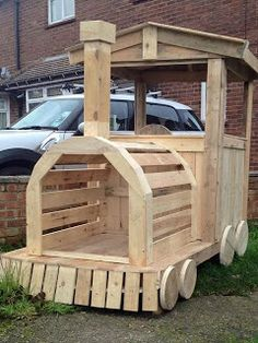 Playground Train Made From Pallets --- #pallets